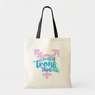 Protect Trans Students - Trans Symbol - -  Tote Bag