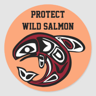 Protect Wild Salmon sticker
