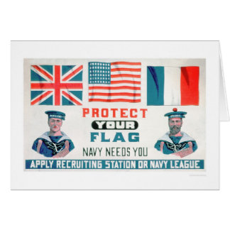 Protect Your Flag - Navy Needs You (US02143) Card