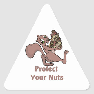 Protect Your Nuts Triangle Sticker