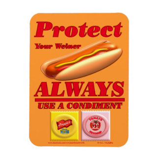 Protect Your Weiner Vinyl Magnet