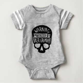 Protected By A Biker Grandpa Baby Bodysuit