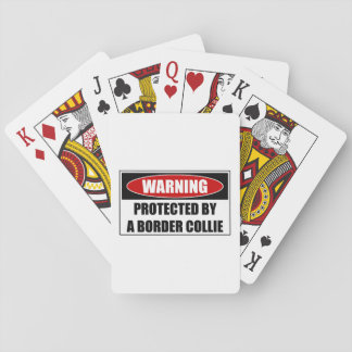 Protected By A Border Collie Playing Cards