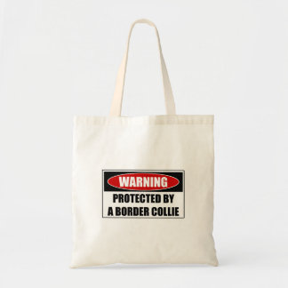 Protected By A Border Collie Tote Bag