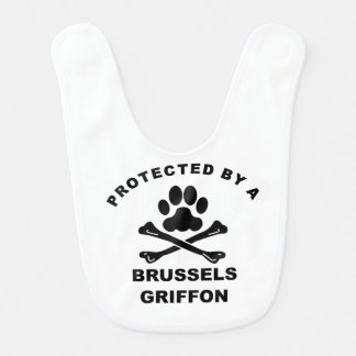 Protected By A Brussels Griffon Bib