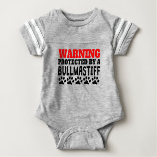 Protected By A Bullmastiff Baby Bodysuit