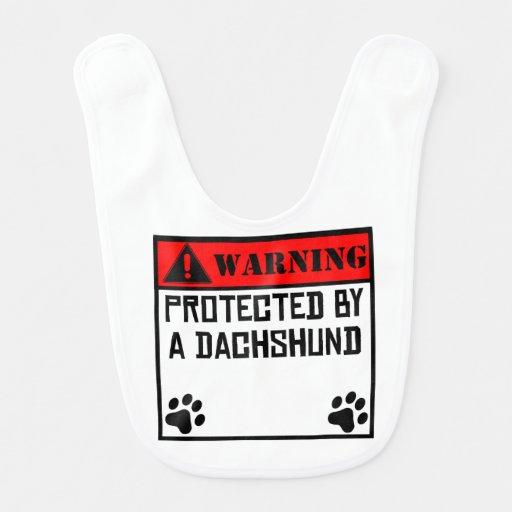 Protected By A Dachshund Bib