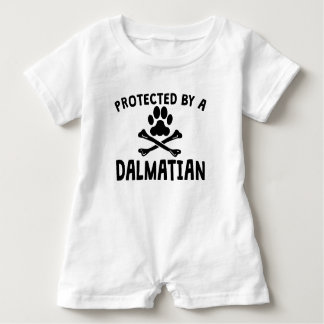 Protected By A Dalmatian Baby Romper