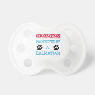 Protected By A Dalmatian Dog Pacifier