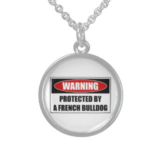 Protected By A French Bulldog Sterling Silver Necklace