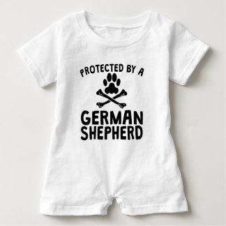 Protected By A German Shepherd Baby Romper