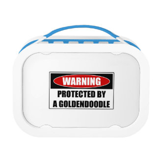 Protected By A Goldendoodle Lunch Box