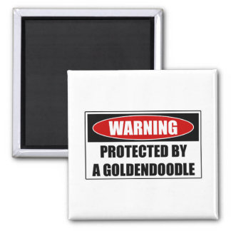 Protected By A Goldendoodle Magnet