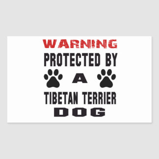 Protected By A Tibetan terrier Dog Sticker