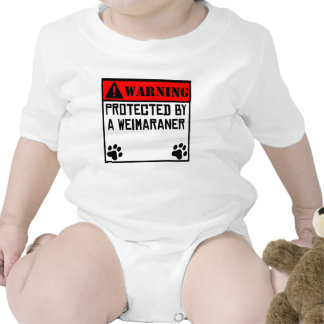 Protected By A Weimaraner Bodysuit