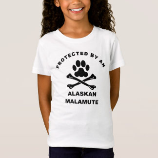 Protected By An Alaskan Malamute T-Shirt