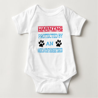Protected by an American Staffordshire Terrier Dog Baby Bodysuit