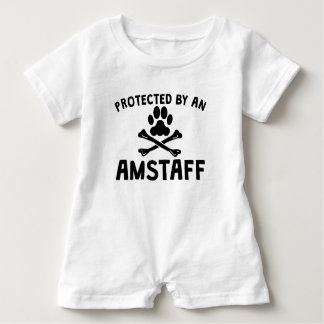 Protected By An AmStaff Baby Romper