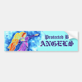 Protected By Angels Bumper Sticker