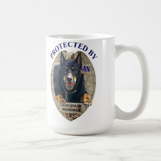 Protected By Doberman Pinscher Coffee Mug
