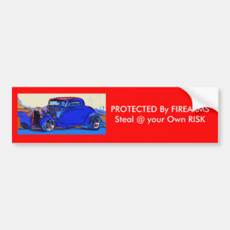 PROTECTED By FIREARMS. Bumper Sticker