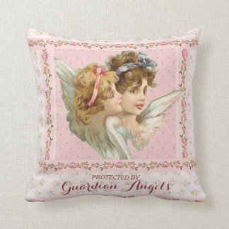 Protected by Guardian Angels Throw Pillow