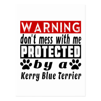Protected By Kerry Blue Terrier Postcard