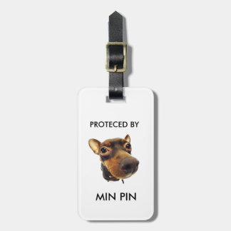 PROTECTED BY MIN PIN LUGGAGE TAG