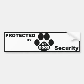 Protected by MY DOGS Bumper Sticker