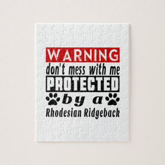 Protected By Rhodesian Ridgeback Jigsaw Puzzle