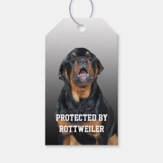 Protected by Rottweiler Gift Tags Pack Of Gift Tags