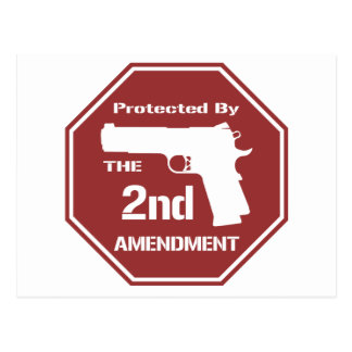Protected By The Second Amendment (Red).png Postcard