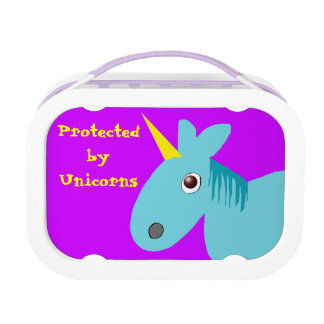 protected by unicorns lunch box
