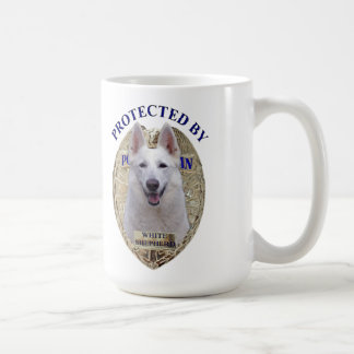Protected By White Shepherd Coffee Mug