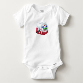 Protected Tooth and Gum Concept Baby Onesie