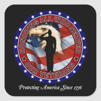 Protecting America Veterans Day Stickers