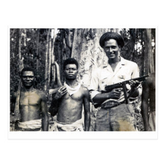 Protecting New Guinea lumberjacks Postcard