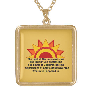 Protection Prayer Gold Plated Necklace