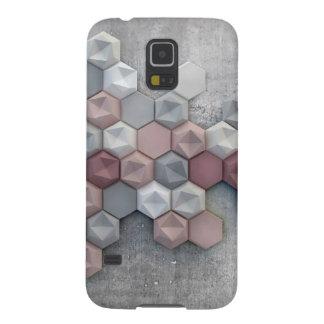 Protections Galaxy S5 Galaxie architecturale S5 de Samsung d'hexagones