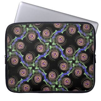 Protective small pocket for green pink computer laptop sleeve