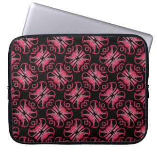 Protective small pocket for pink computer laptop sleeve