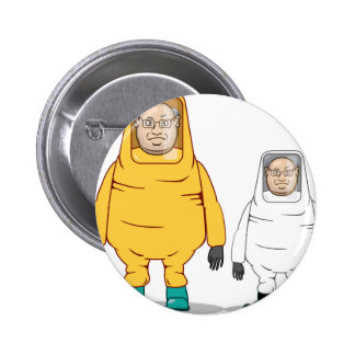 Protective Suit Illustration 2 Inch Round Button