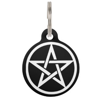 Protective Witches Pentacle Pet Tag