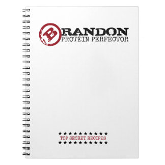 PROTEIN PERFECTOR Funny 'Top Secret' Custom Name Spiral Note Books