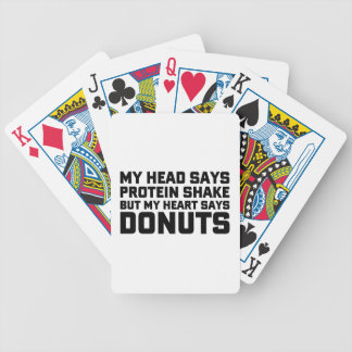 Protein Shake or Donuts Bicycle Playing Cards