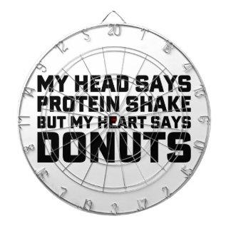 Protein Shake or Donuts Dartboard