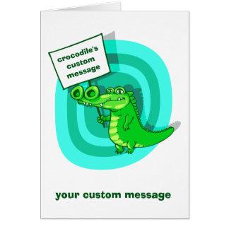 protest crocodile funny cartoon card