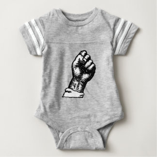 protest fist baby bodysuit