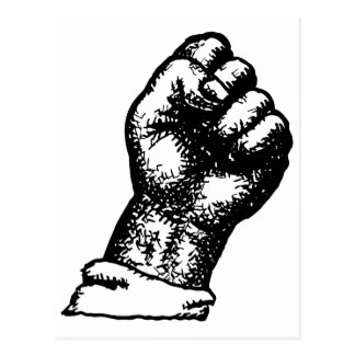 protest fist postcard