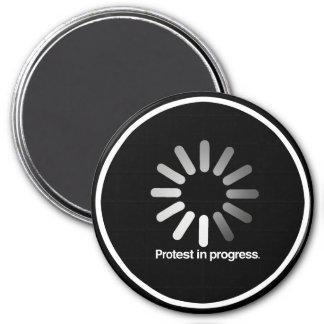 Protest in Progress - - white - Magnet